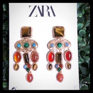 ZARA- sophiscated gem earrings
